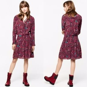 ZADIG & VOLTAIRE Psyche Remus Red Dress NWT